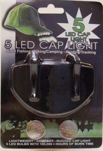 SEA HARVESTER LED CAP LIGHT 5 LED BLACK