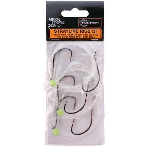 Black Magic Strayline Rig 6/0 & 7/0 Hooks