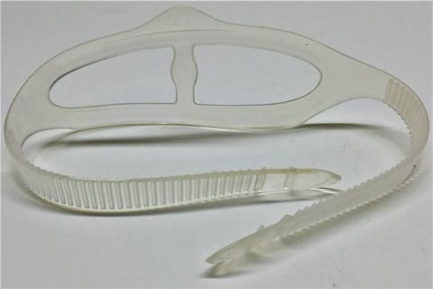 Sea Harvester Clear Silicone Mask Strap