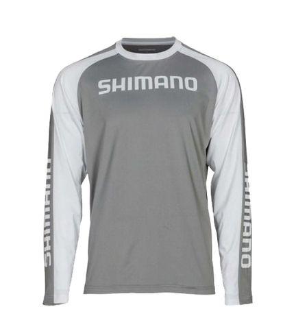 Shimano Tech Long Sleeve Tee 2Xl Grey/White