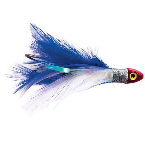 BLACK MAGIC SALTWATER CHICKEN BLUE/WHITE DOUBLE HOOK