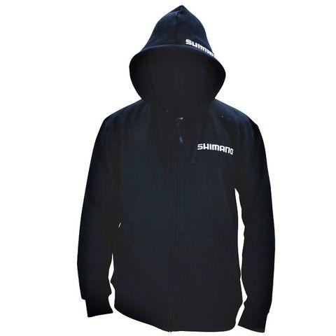 Shimano Black Zip Up Hoodie Large