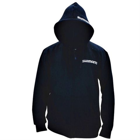 Shimano Black Zip Up Hoodie Xl