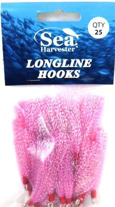 Sea Harvester Longline Flies Pink 25
