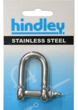 HINDLEY D-SHACKLE 10MM STAINLESS STEEL