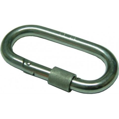 KARABINER C-TYPE WITH SCREW 6MM STAINLESS STEEL