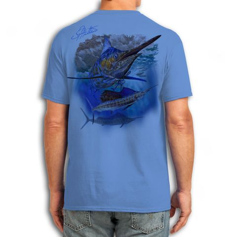Jm Blue T Shirt Marlin (Size 2Xl)