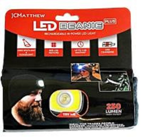 Led Beanie Headlamp , Rechargeable