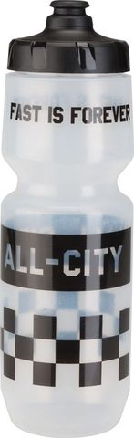 All-City Purist Water Bottle Black Cap