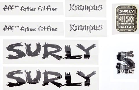 Surly Krampus Decal Set Black