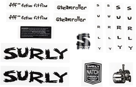 Surly Steamroller Decal Set Black