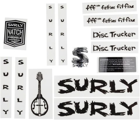 Surly Disc Trucker Decal Set Black