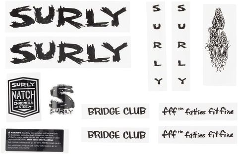Surly Bridge Club Decal Set Black