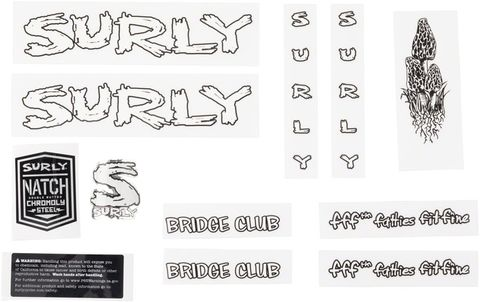 Surly Bridge Club Decal Set White