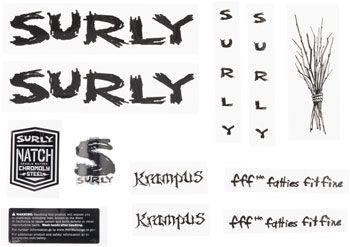 Surly Krampus Decal Set Black
