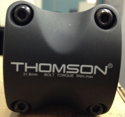 Thomson X4 31.8 Face Plate Carbon