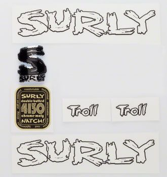 Surly Troll Decal Set with Headbadge