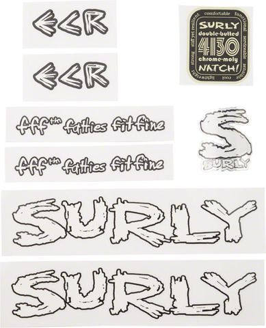 Surly ECR Frame Decal Set White