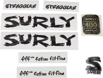 Surly Straggler Frame Decal Set Black