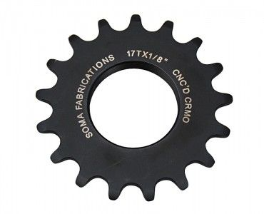 Soma Track Cog 18T 1/8 Black Machined