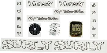 Surly Wednesday Decal Set White