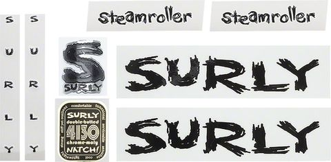 Surly Steamroller Frame Decal Set Black