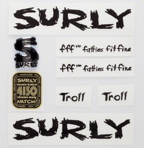 Surly Troll Decal Set Black
