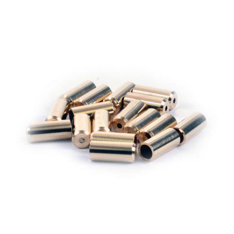 Wheels MFG 5mm Brass Cable Ferrules 50pc