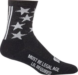 Surly 1st Ave 5inch Wool Sock Black  SM