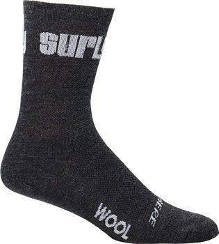 Surly Logo 5 inch Wool Sock Black LG