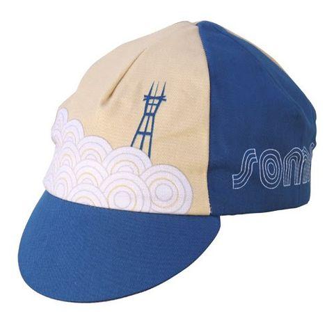Soma Sutro Cycling Cap Blue/Caramel