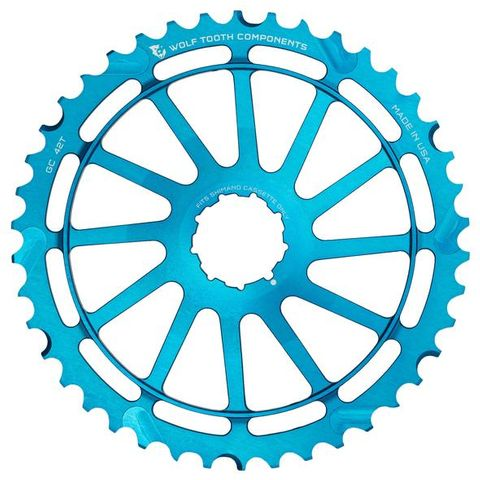 Wolf Tooth 40T GC Cog Shimano 10s Blue