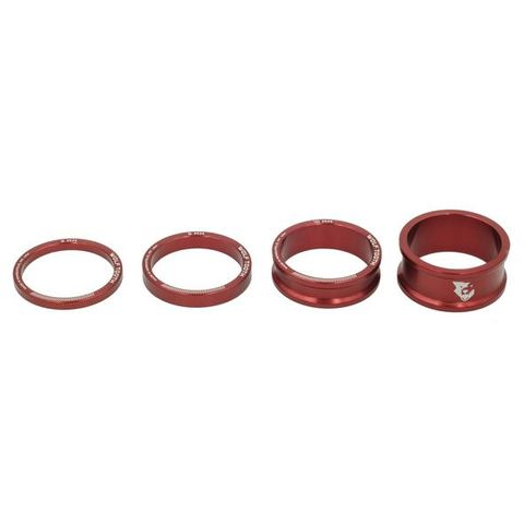 Wolf Tooth Headset Spacers Red Kit