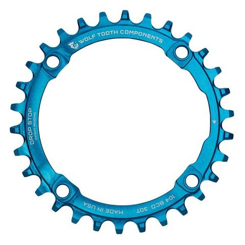 WOLF TOOTH 104 CHAINRINGS BLUE