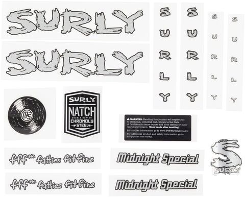 Surly Midnight Special Decals Silver