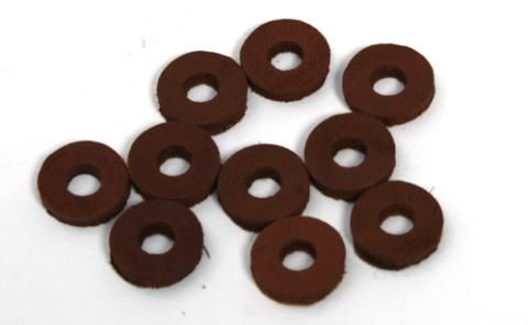 Cardiff Leather Washers Brown 10bag