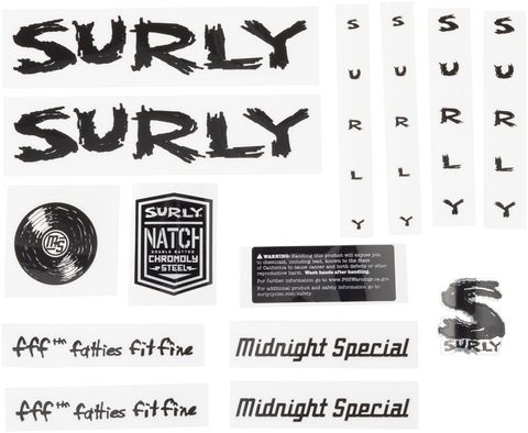 Surly Midnight Special Decal Set Black