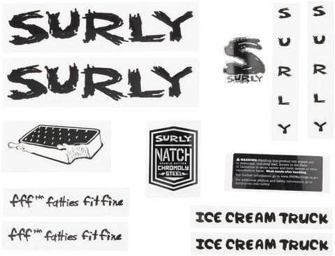Surly Ice Cream Truck Decal Set Balck