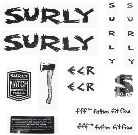 Surly ECR Decal Set Black