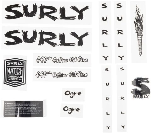 Surly Ogre Decal Set Black