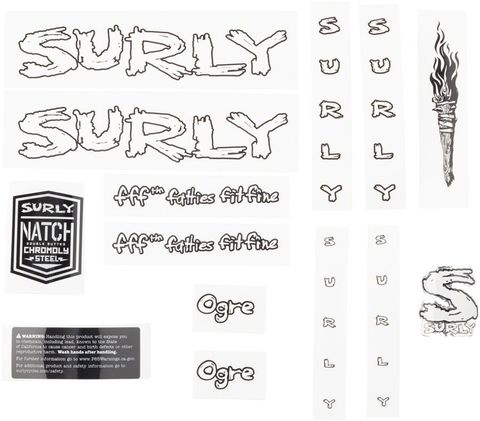 Surly Ogre Decal Set White