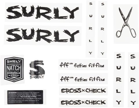 Surly Cross Check Frame Decal Set Black