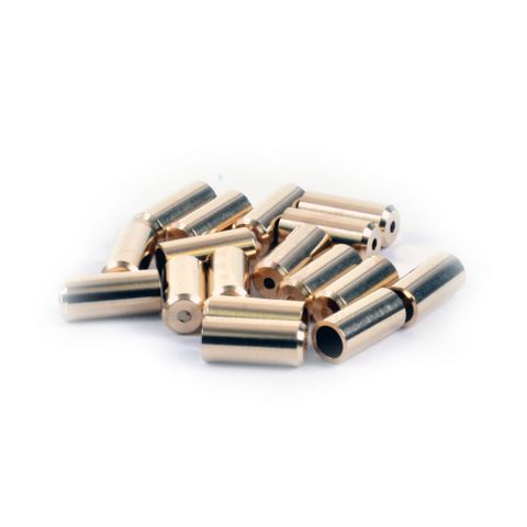 Wheels MFG 5mm Brass Cable Ferrules 50pc