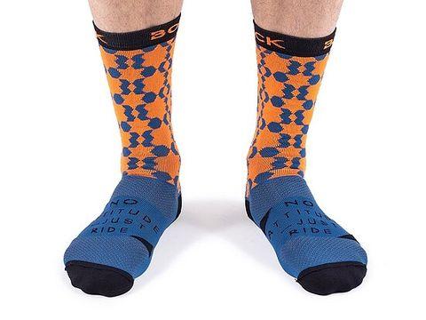 Bombtrack Hook Socks Blue/Org LG