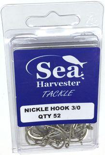 NICKLE BEAK HOOK 3/0 BULK 52