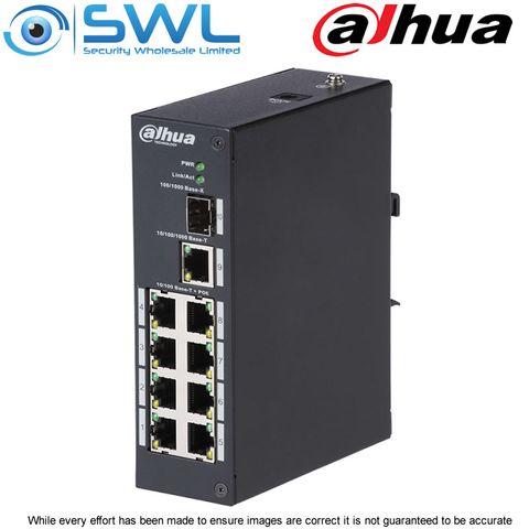 Dahua PFS3110-8P-96, 8 + 2 PoE Switch 96W. Din Rail Mount.