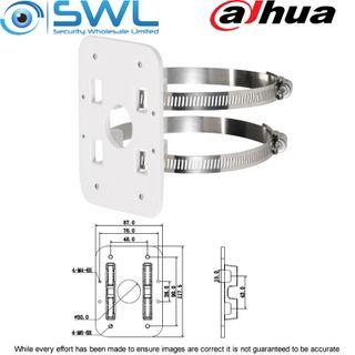 Dahua PFA152: Pole Mount Bracket For Cameras - Lightweight