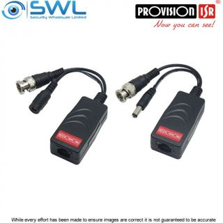 Provision-ISR Up to 8Mp 1CH Passive Balun With RJ45 - Sold As A Pair