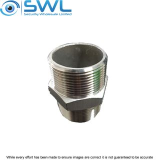 1' 1/2 (38mm) NPT Nipple: Male to Male to Suit Pole Fittings & Brackets etc