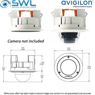 Avigilon H4SL-MT-DCIL1: In-Ceiling Mount For All H5SL Dome Cameras